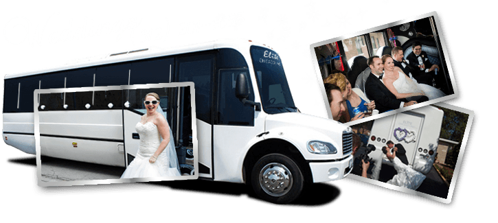 party bus weddings in Hometown style