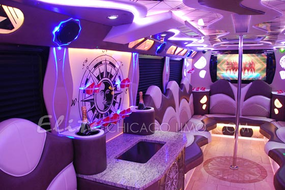 Elite Chicago Limo Legacy Chicago Party Bus