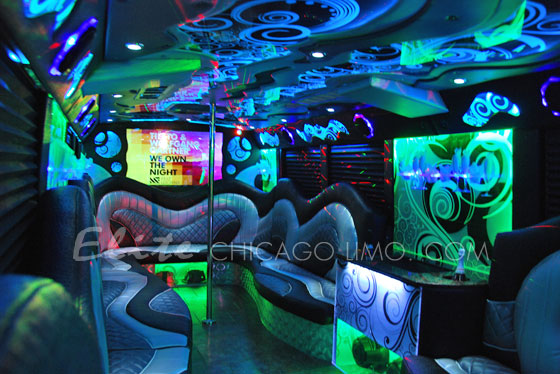 Elite Chicago Limo Starry Night Party Bus